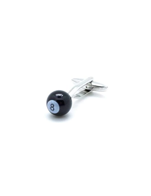 Black no. 8 pool ball cufflink 0111-011