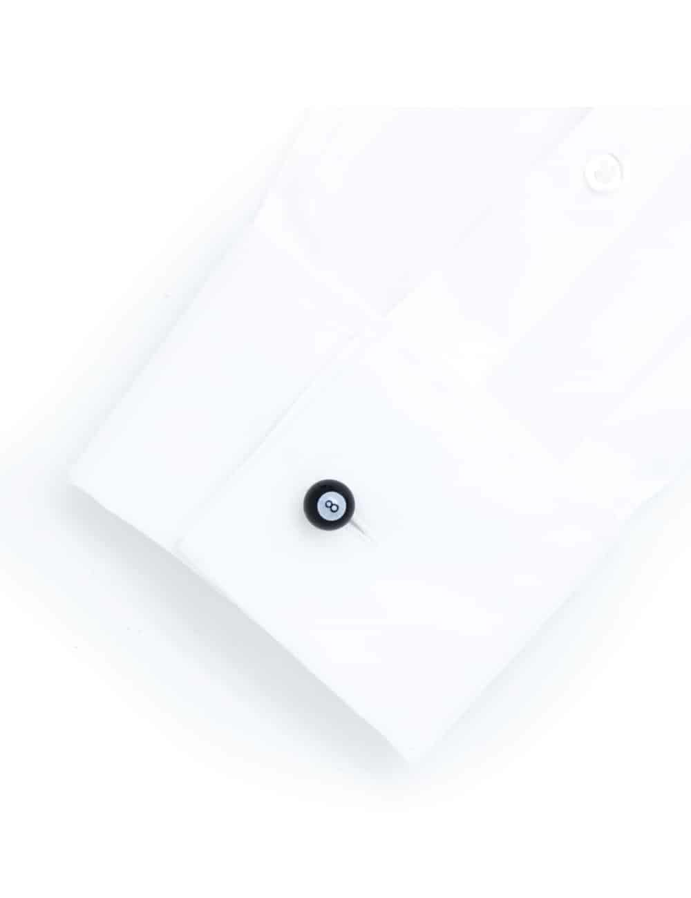 Black no. 8 pool ball cufflink 0111-011