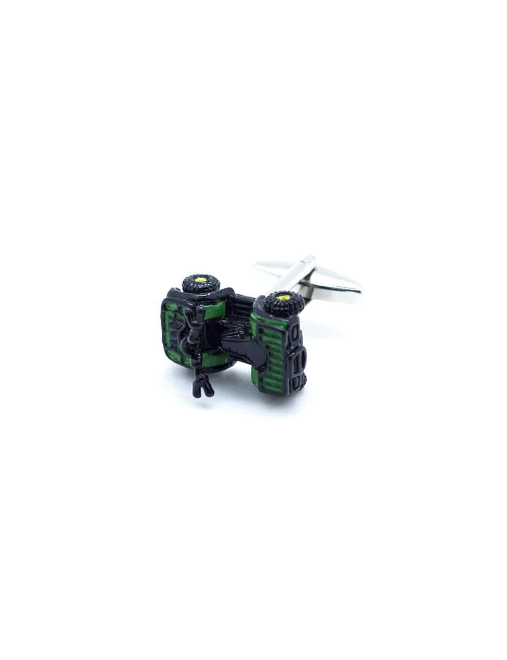 Green 4 wheeled quad bike cufflink 0114-012