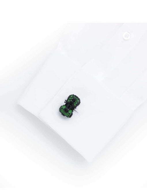 Green 4 wheeled quad bike cufflink 0114-012