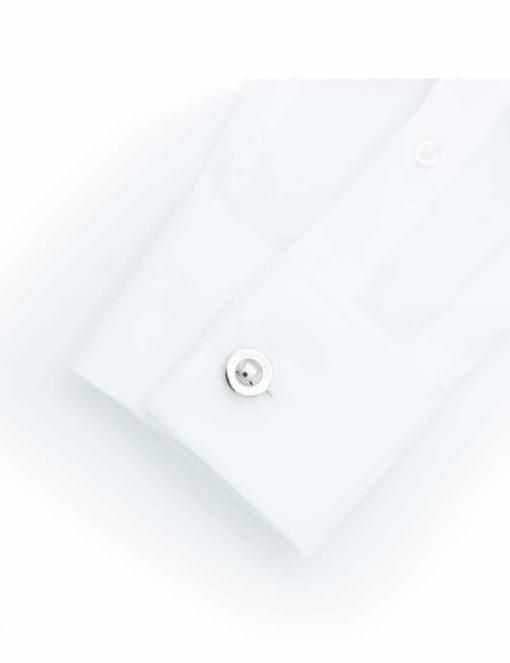 Chrome silver classic round cap cufflink0200-090