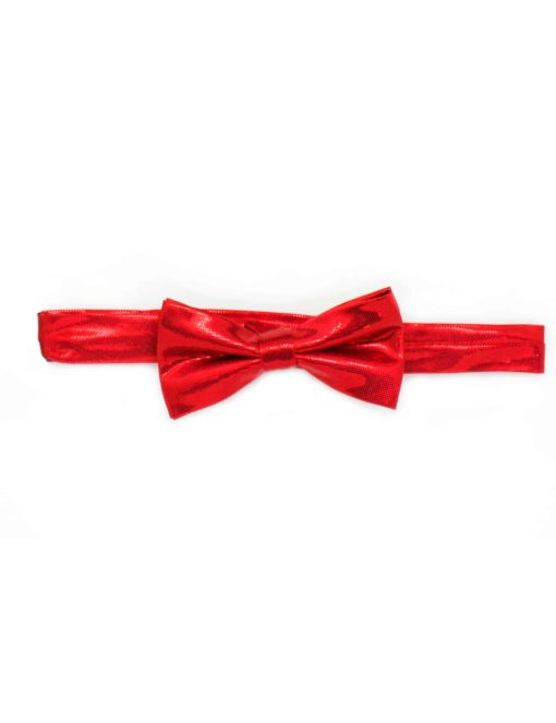 Red Shimmer Woven Bowtie WBT15.3