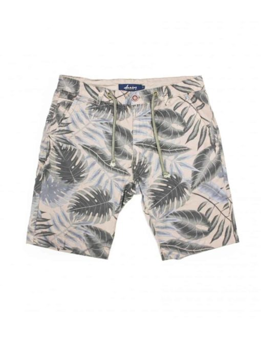 Brown Leaf Printed Chino Shorts SA7.1