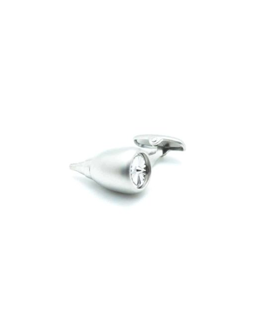 Brushed silver commercial aircraft engine cufflink C271NA-003