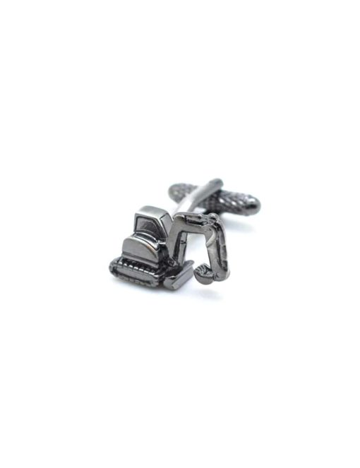 Matte grey crane truck cufflink C274NU-007