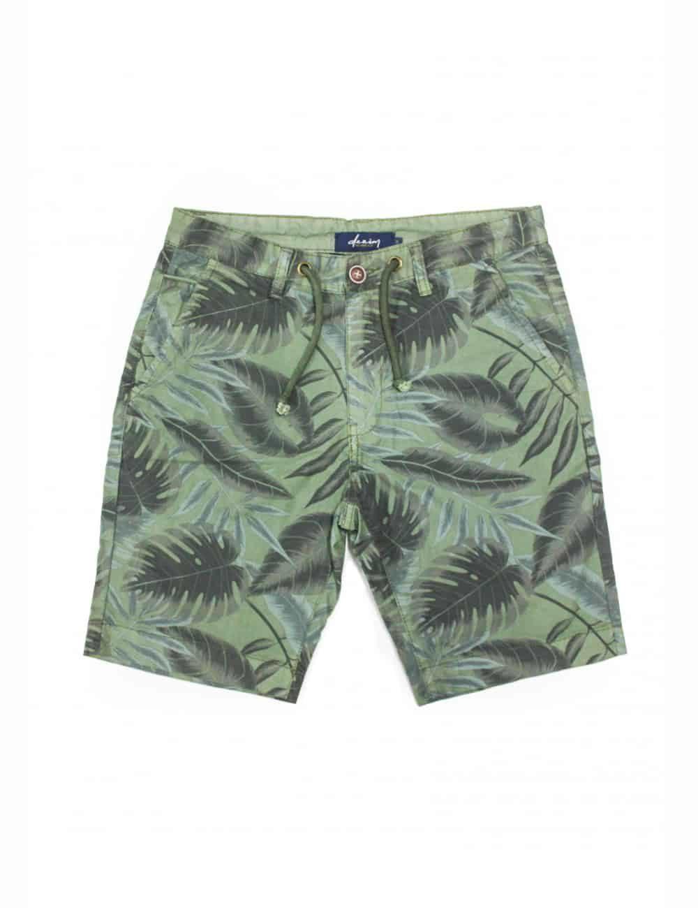 Green Leaf Printed Chino Shorts SA9.1