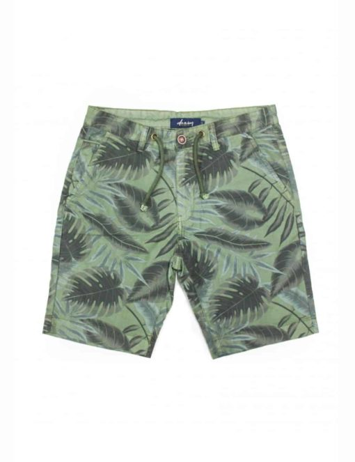 Green Leaf Printed Chino Shorts SA9.1