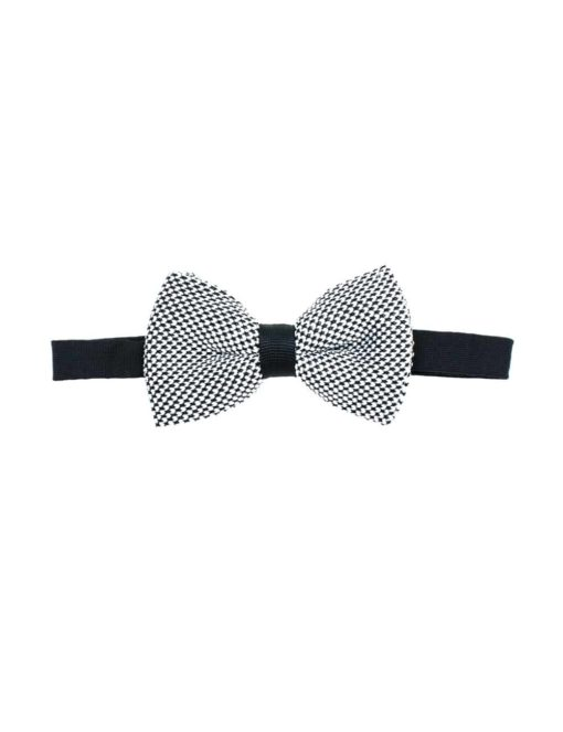 Black and White Knitted Bowtie KBT2.6