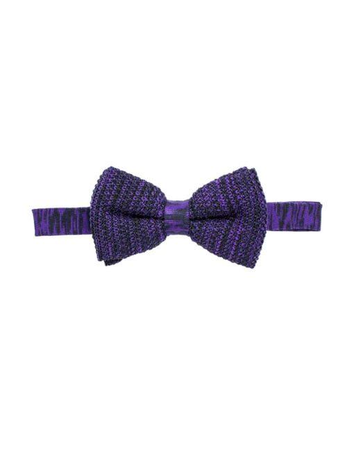 Purple Mix Knitted Bowtie KBT6.6