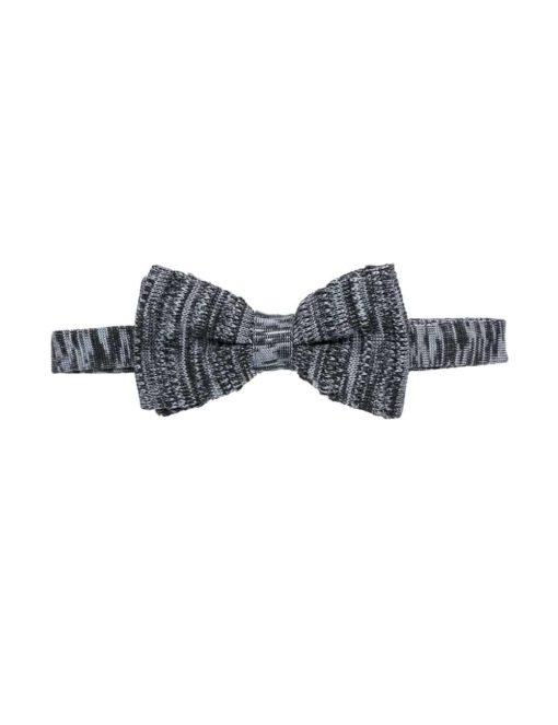 Grey Pattern Knitted Bowtie KBT8.6