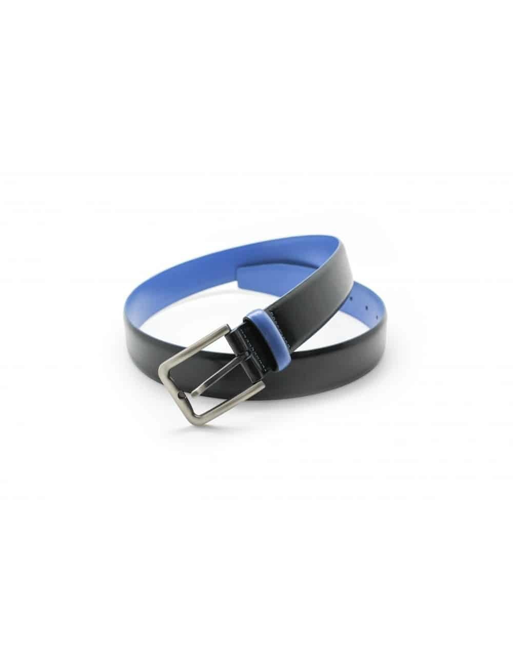 Navy & Blue Leather Belt LB3.5