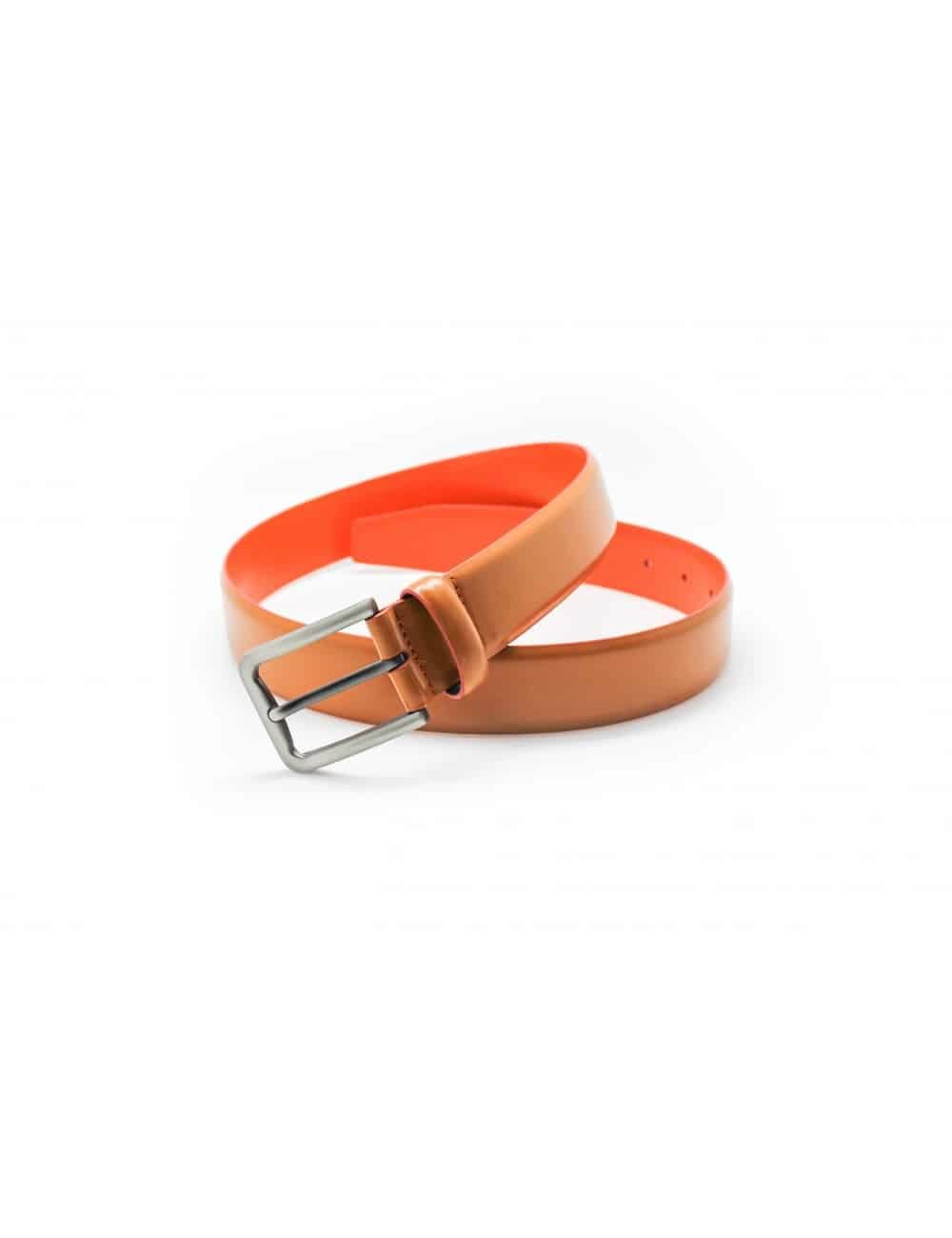 Tan & Orange Leather Belt LB4.5
