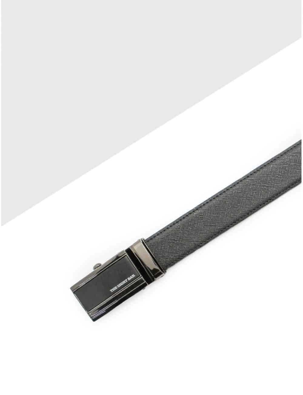 Black Textured Auto Lock Leather Belt LBA20.5