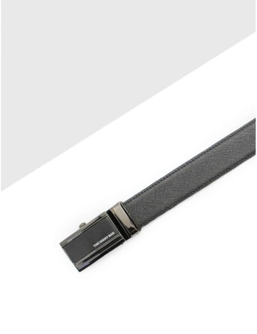 Black Textured Auto Lock Leather Belt LBA20.5