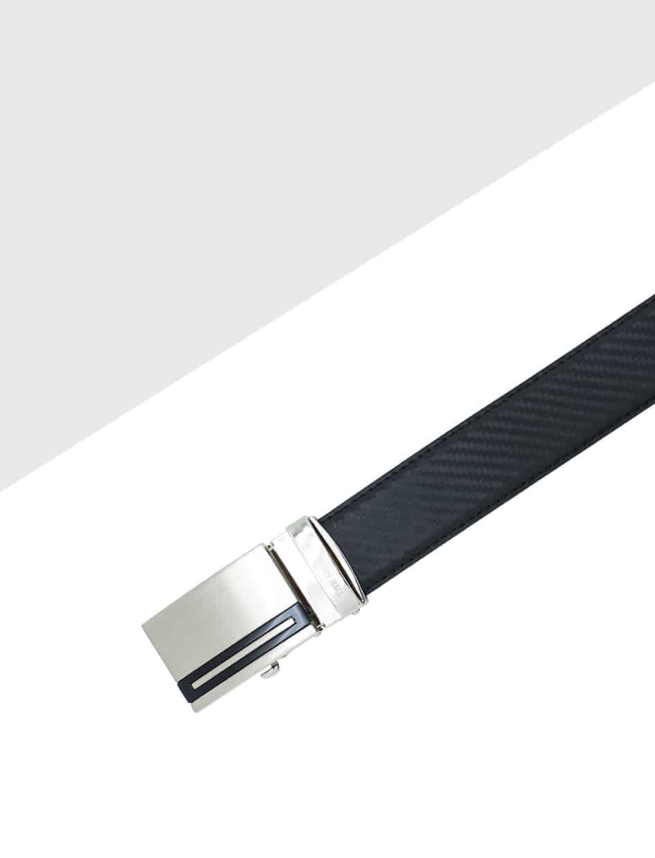 Black Textured Auto Lock Leather Belt LBA20.6