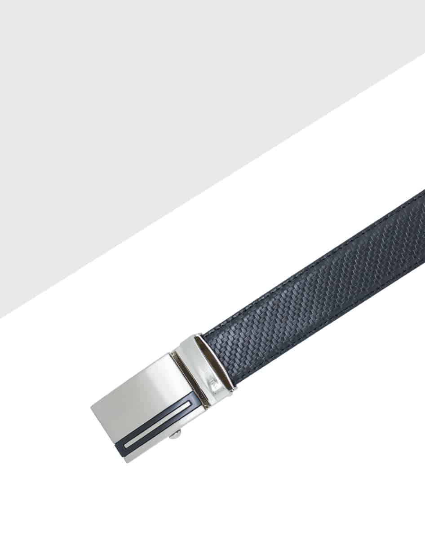 Raven Black Auto Lock Leather Belt LBA21.6