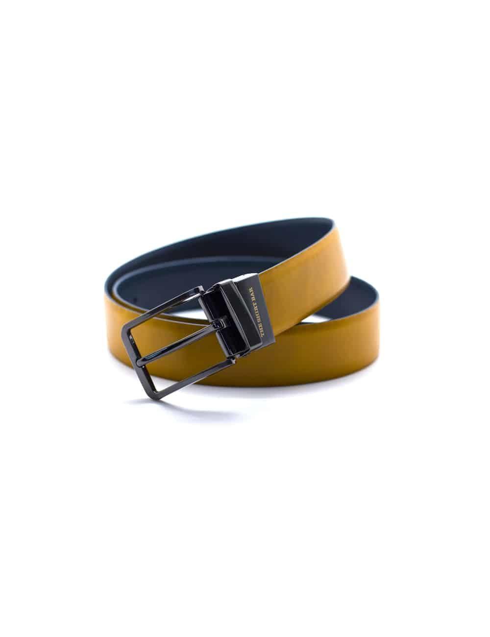 Tan / Navy Reversible Leather Belt LBR11.6