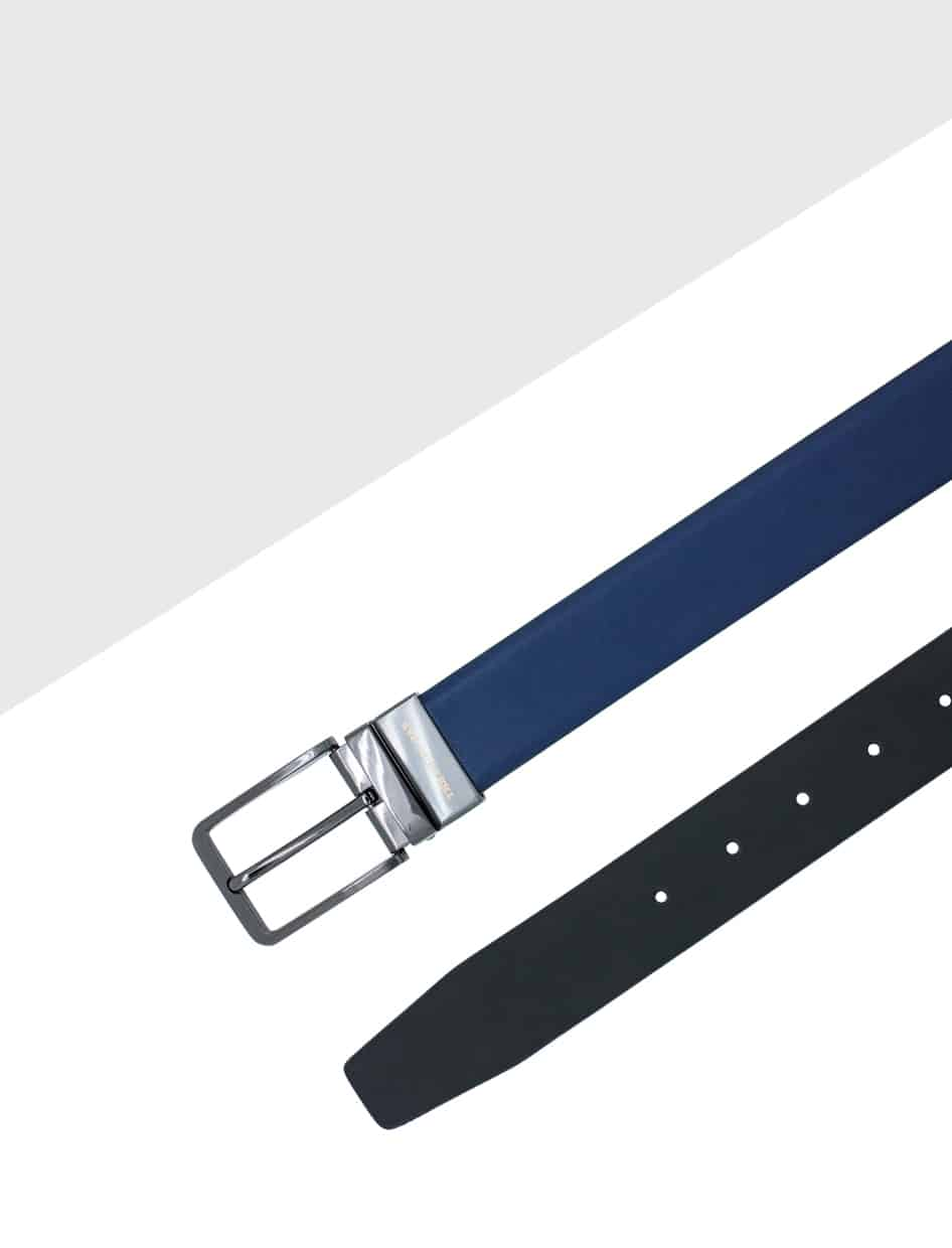 Navy / Charcoal Reversible Leather Belt LBR14.6
