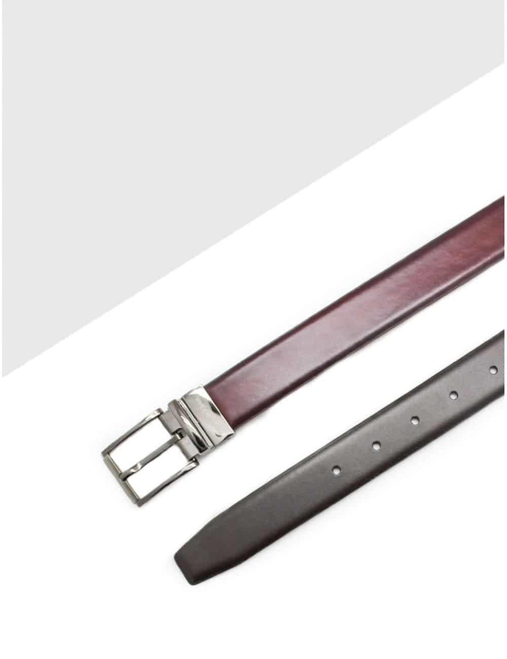 Wine / Dark Brown Reversible Leather Belt LBR16.5