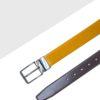 Khaki / Dark Brown Reversible Leather Belt LBR16.6