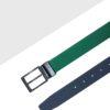 Green / Blue Reversible Leather Belt LBR17.6