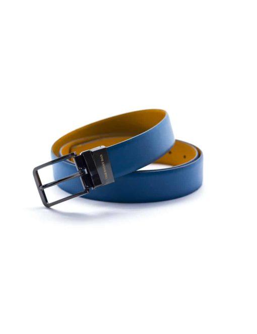Stellar Blue / Tan Reversible Leather Belt LBR18.6
