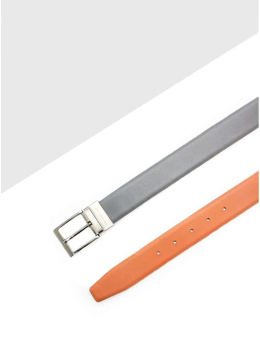Grey / Tan Reversible Leather Belt LBR8.5