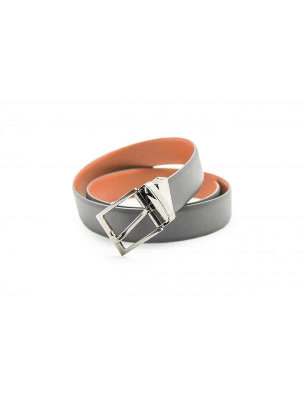 Grey / Tan Reversible Leather Belt LBR8.5