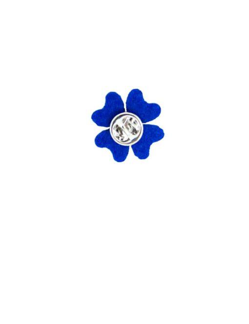 Blue Felt Floral Lapel Pin LP150.8