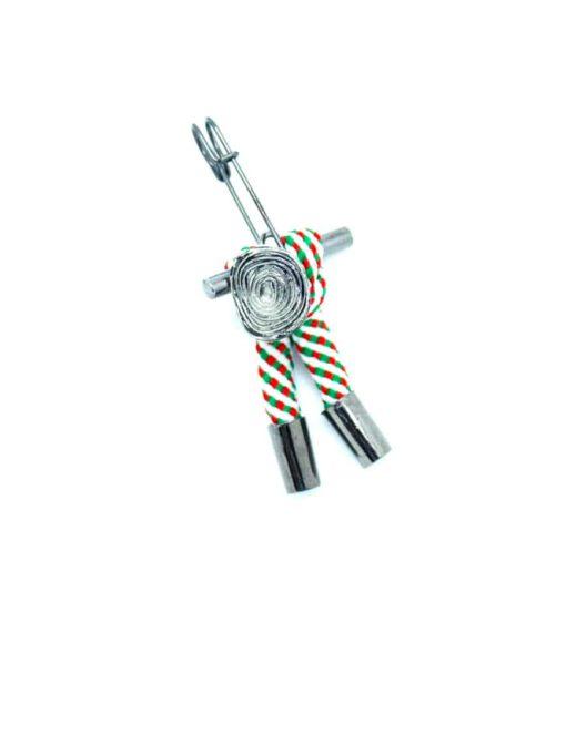 Green Stripes Lapel Pin LP176.8
