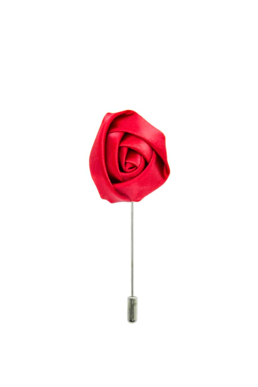 Poppy Red Rose Lapel Pin LP238 8