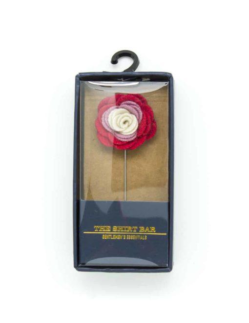 Pink/ Lilac/ Cream Floral Lapel Pin LP90.8