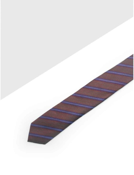 Maroon with Purple Stripes Woven Necktie NT56.7