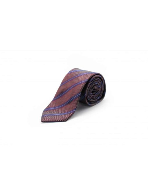 Maroon with Purple Stripes Woven Necktie NT56.7