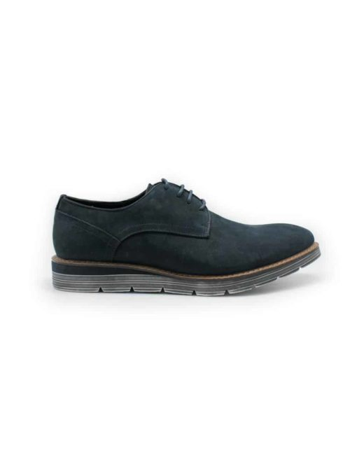 Navy Leather Derby Plain Toe F7B5.1