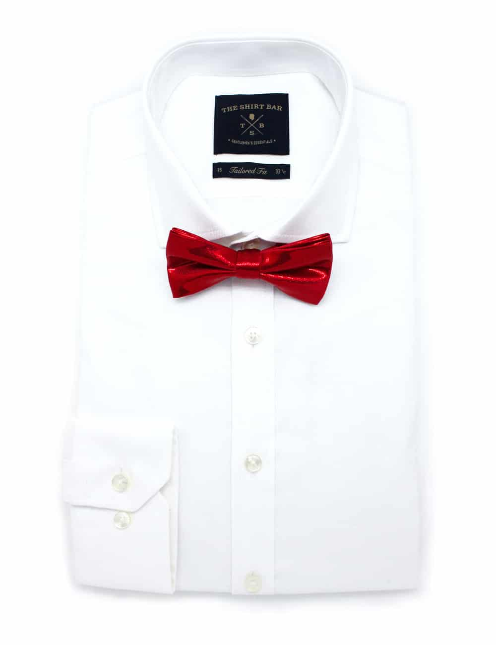 White Dress Shirt With Red Bow Tie Rockwall Auction