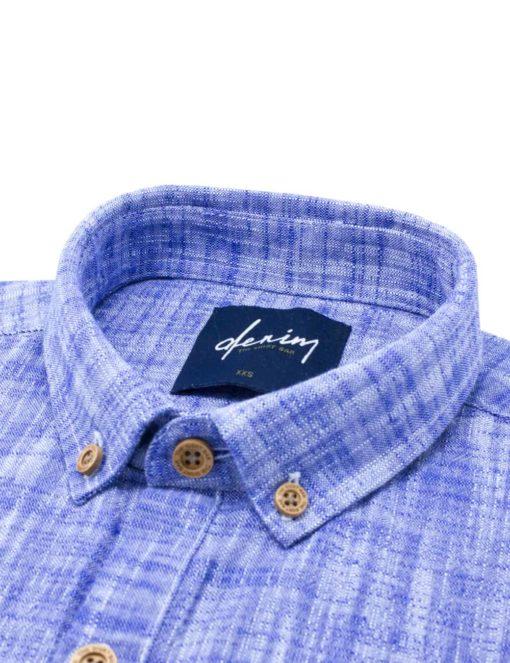 RF Blue Button Down 100% Cotton Long Sleeve Shirt RF6BA2.7