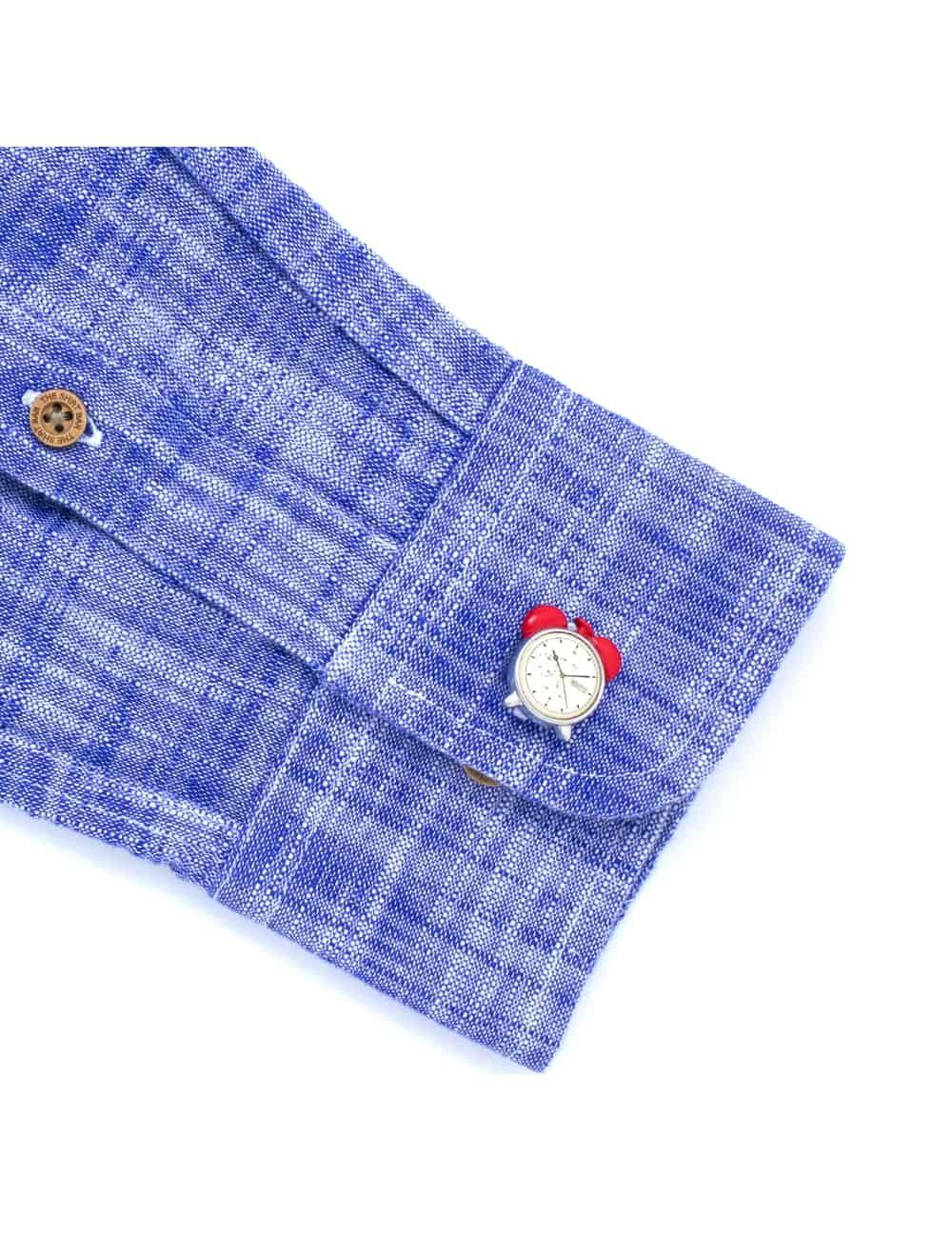 Relaxed Fit Blue Button Down 100% Cotton Long Sleeve Shirt RF6BA2.7