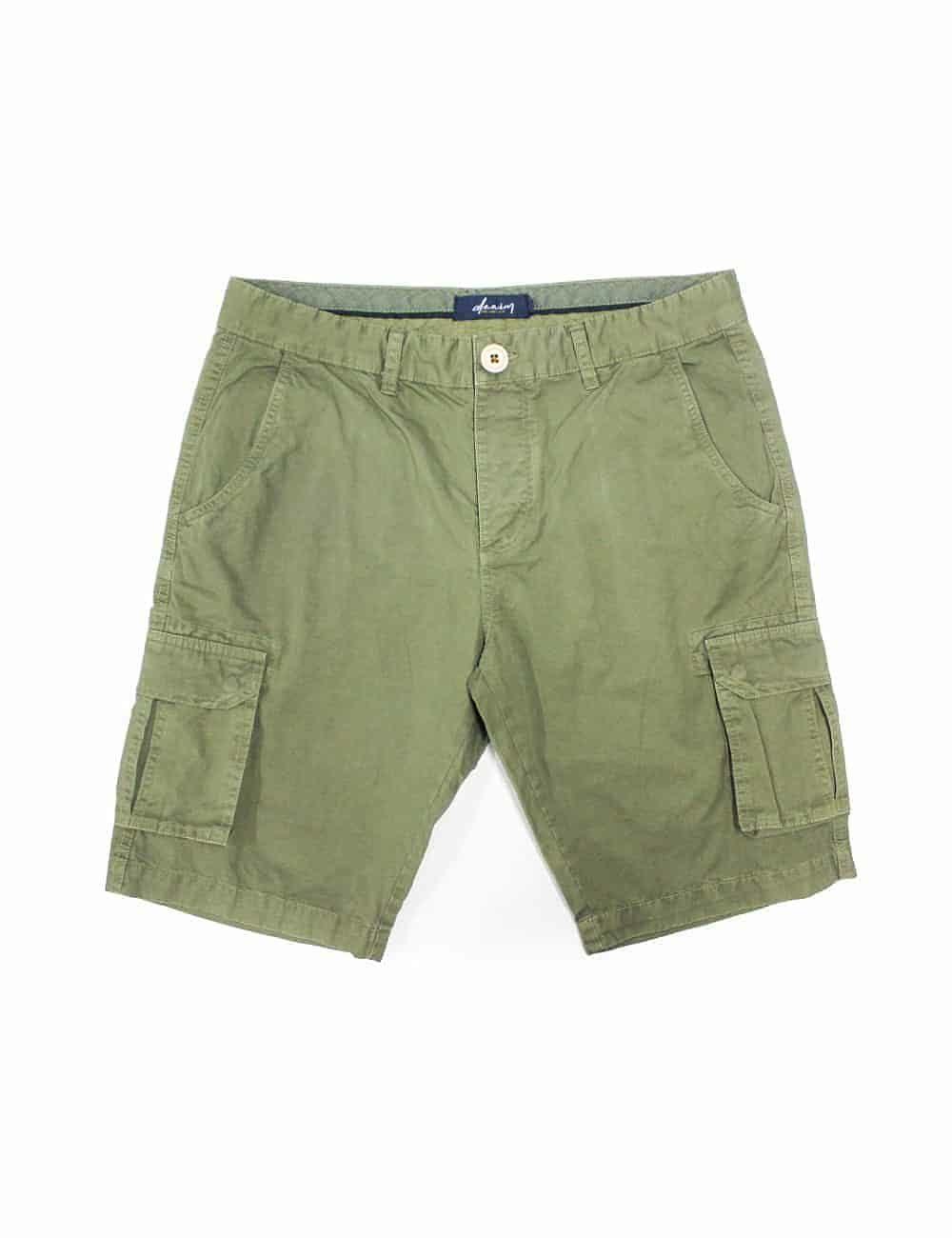 Solid Green Cargo Shorts SB3.1