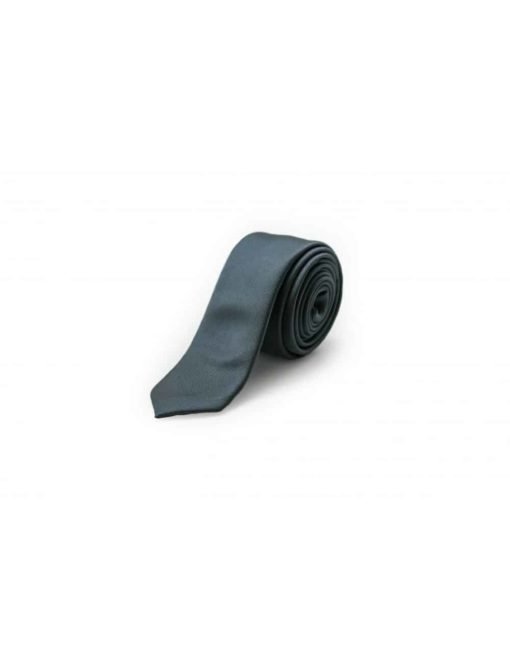 Solid Black Grey Woven Necktie NT25.7