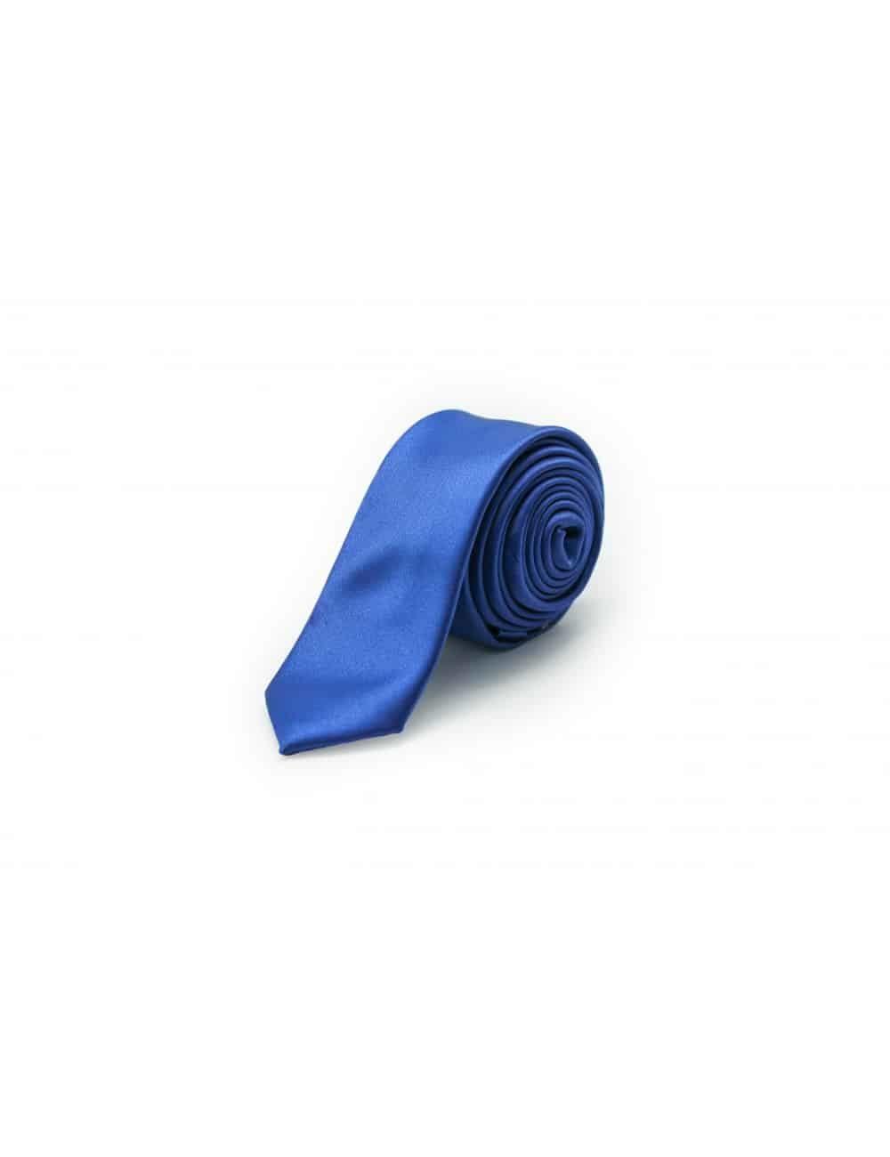Solid Blue Flash Woven Necktie NT26.7