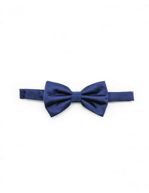 Solid Blue Nights Woven Bowtie WBT11.5