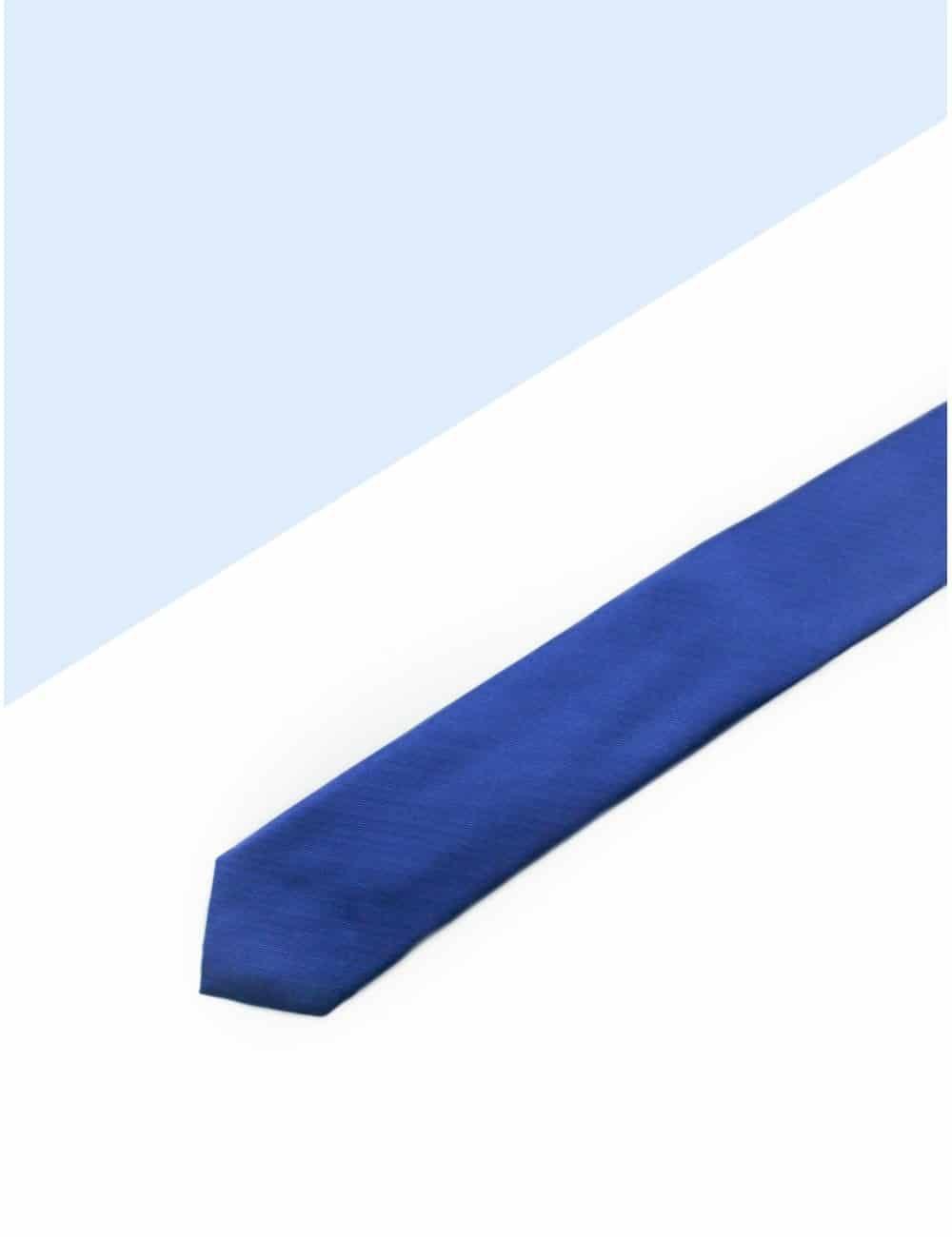 Solid Bright Blue Woven Necktie NT10.7