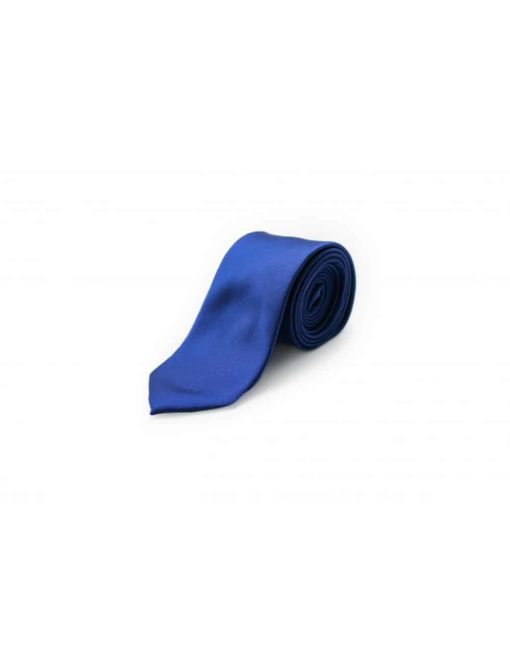 Solid Bright Blue Woven Necktie NT10.7