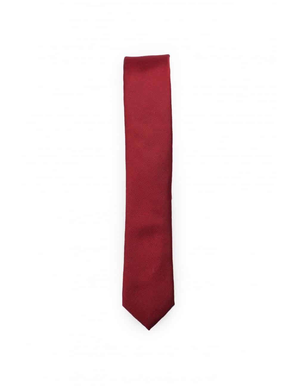 Solid Chilli Pepper Woven Necktie NT18.7