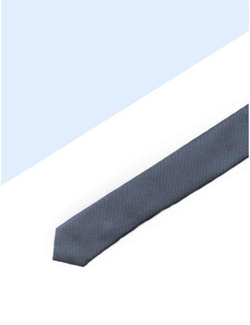 Solid Dark Silver Woven Necktie NT24.7