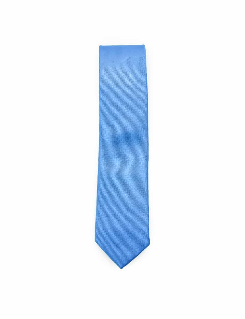 Solid Diver Blue Woven Necktie NT13.7
