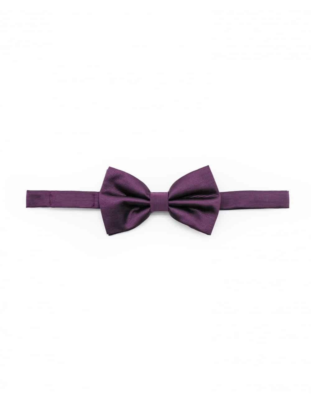Solid Grape Royale Woven Bowtie WBT10.5