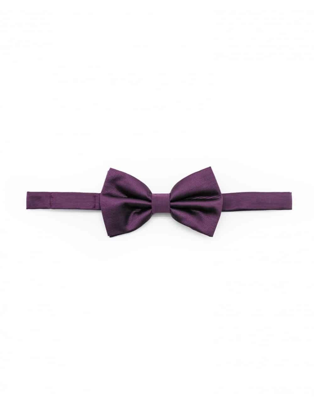 Solid Grape Royale Woven Bowtie WBT10.5