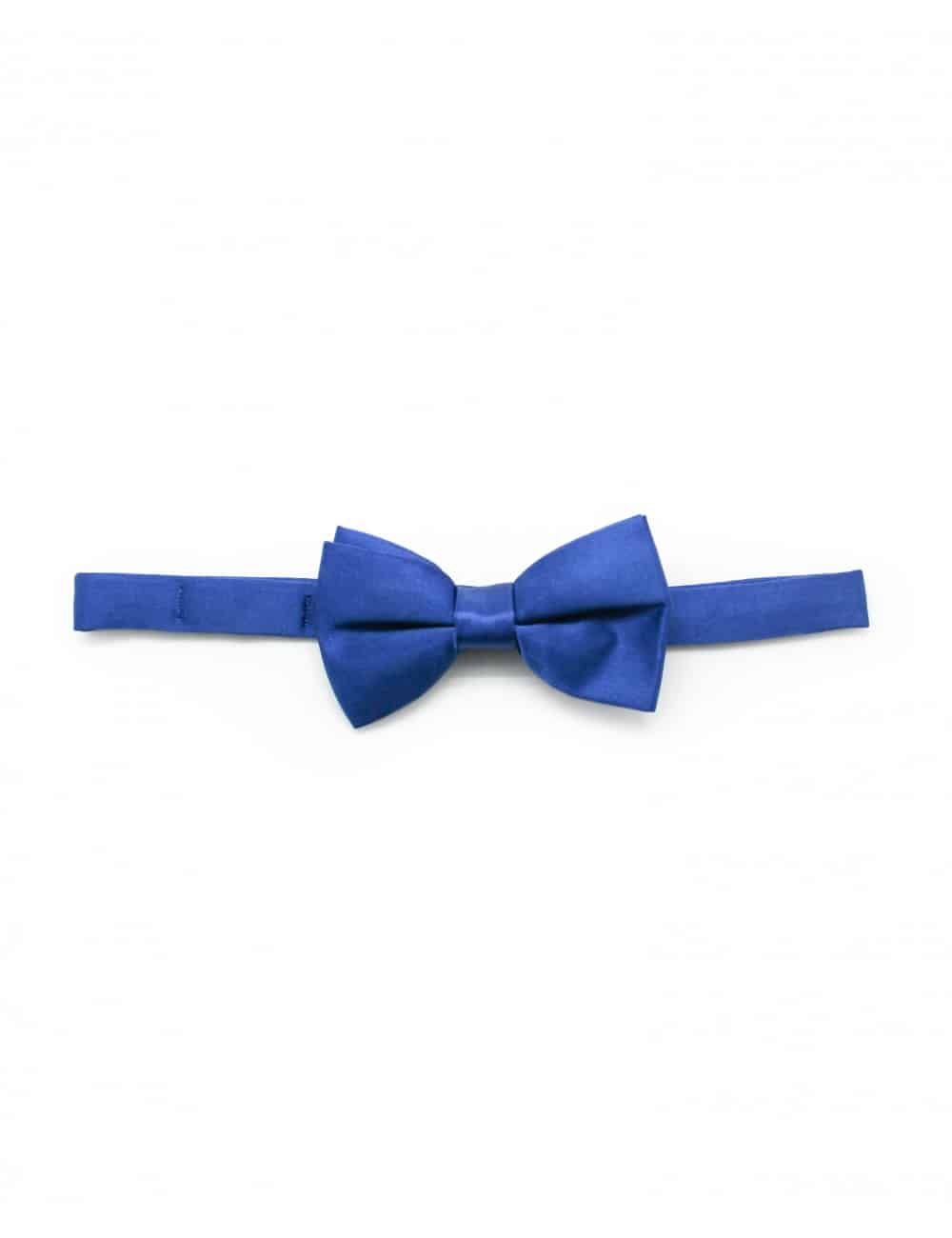 Solid Imperial Blue Woven Bowtie WBT8.5